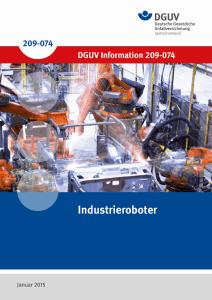 DGUV Information 209-074 Industrieroboter