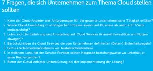 Fragen zum Thema Cloud
